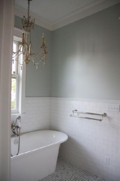 Subway Tile Backsplash Bathroom Urban Grace Interiors