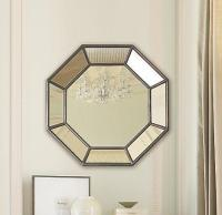 Christopher Knight Home Modern Clear Silver Octagon Mirror