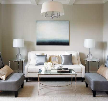 Greige Paint  Contemporary  bedroom  Benjamin Moore