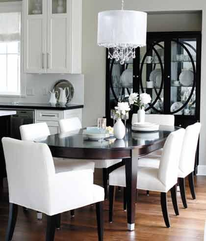 grey parsons chair herman miller office chairs dining - contemporary room benjamin moore revere pewter style at home
