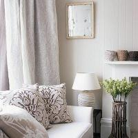Linen Drapes - Transitional - living room
