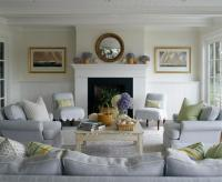 Blue Couch - Cottage - living room - House Beautiful