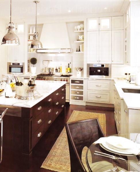 Brown KItchen Island  Transitional  kitchen