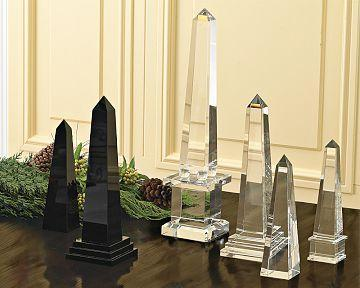 Williams Sonoma Home Crystal Obelisks