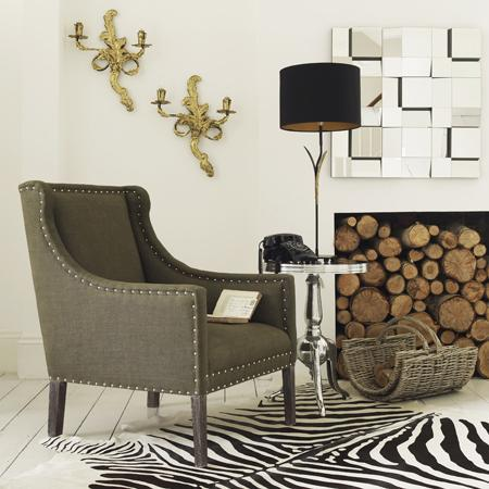 black and white living rooms lazy boy room chairs olive studded armchair - graham green