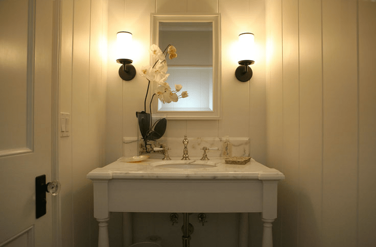 Tiny Powder Room  Cottage  bathroom  Giannetti Home