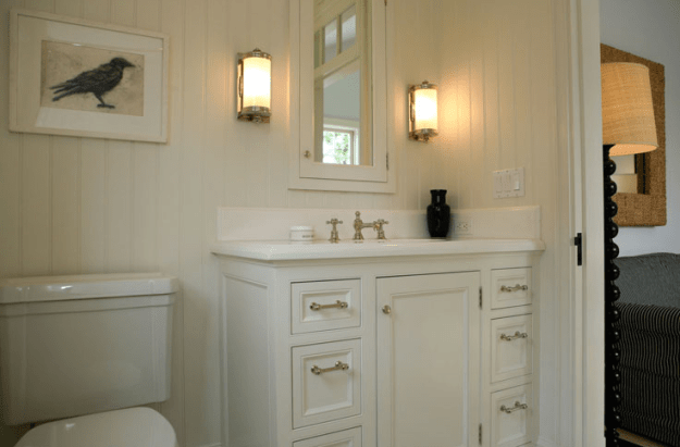 off white bathroom cabinets - cottage - bathroom - giannetti home