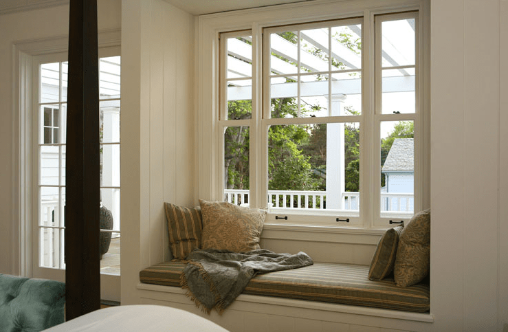 Bedroom Window Seat  Transitional  bedroom  Giannetti Home
