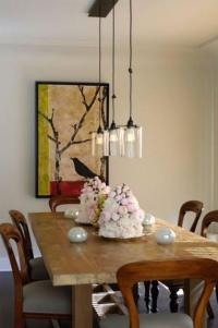 Dining Table: Size Pendant Lighting Dining Table