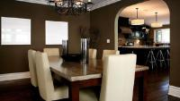 Taupe Dining Room - Contemporary - dining room - Jeff ...
