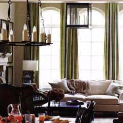Oatmeal Sofa Set Small Sectional Sleeper Green Silk Curtains - Transitional Living Room