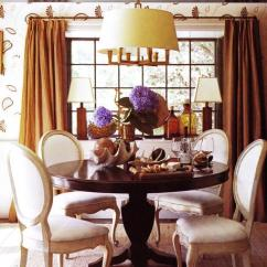 Orange Living Room Curtains Ideas For Decorating A Burnt French Dining