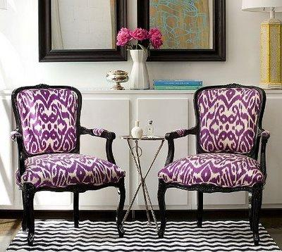 Ikat Accent Chairs Design Ideas