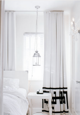 Greek Key Curtains  Contemporary  bedroom