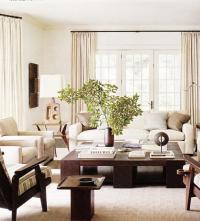 Monochromatic Living Room - Traditional - living room