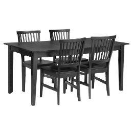 5 pc arts and crafts dining table with