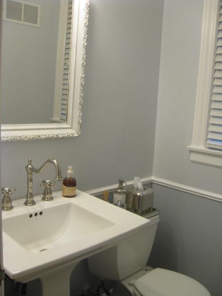 Powder Room Chair Rail  Transitional  bathroom
