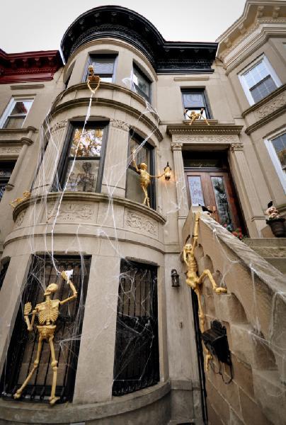 Halloween Decor  Transitional  home exterior  Brooklyn