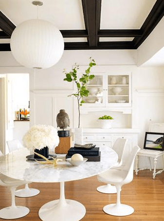 Suzie: Julian Wass Photography - Zen dining room space design with white carrara marble top ...