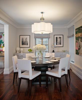 White Dining Room Quatrefoil Pendant Light
