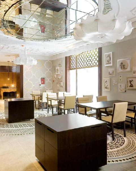Mirrored Ceiling  Contemporary  dining room