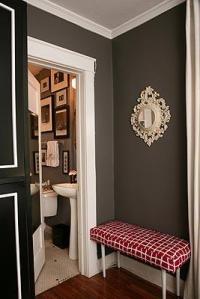 Chocolate Walls - Transitional - entrance/foyer - Turquoise LA