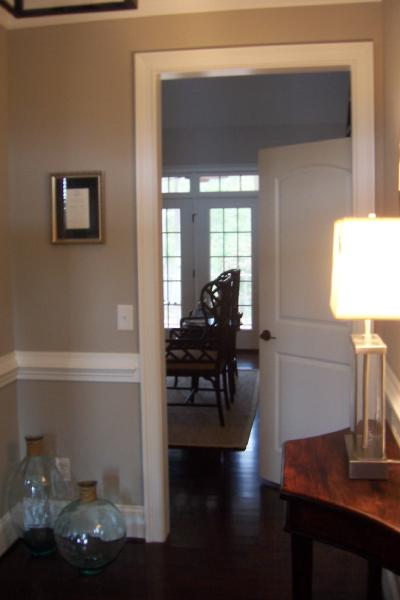 Beige Paint Color  Transitional  entrancefoyer