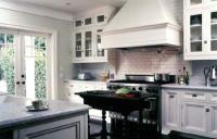 Black Farmhouse Kitchen Island - Transitional - kitchen ...