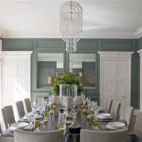 Blue and Gray Dining Room - Transitional - dining room ...