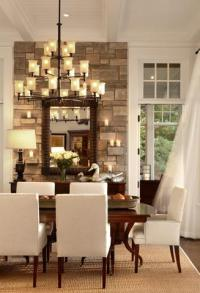 Stone Accent Wall - Transitional - dining room - Pineapple ...