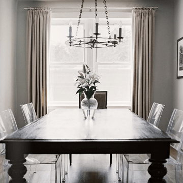 Lucite Dining Chairs  Transitional  dining room