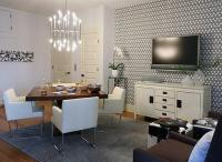 Hicks Hexagon Wallpaper - Contemporary - basement - Sarah ...