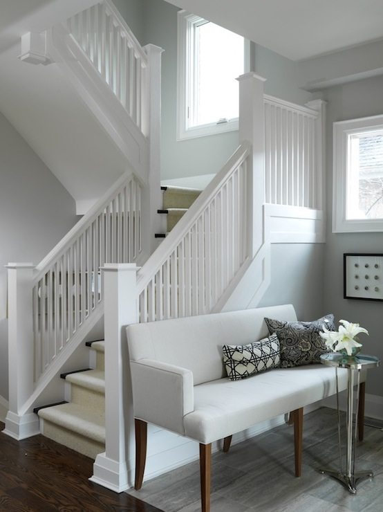 Foyer Settee Contemporary Entrance Foyer Ici Dulux