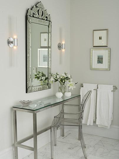 Venetian Mirror  Traditional  bathroom  Farrow  Ball