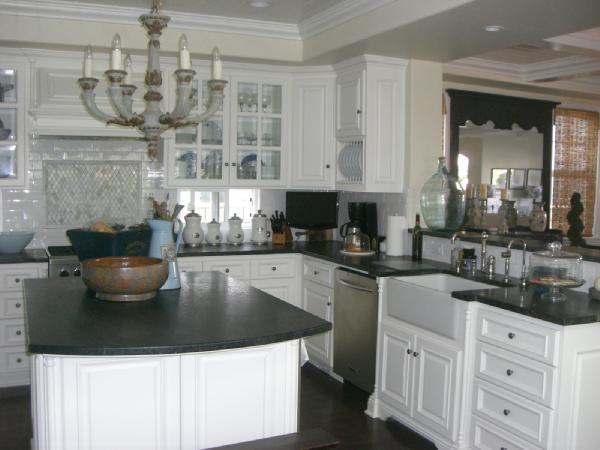 Soapstone Kitchen Island  Transitional  kitchen  Dunn