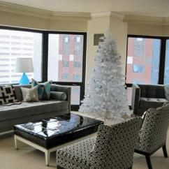 Gray And Turquoise Living Room The Rooftop Bar Contemporary -