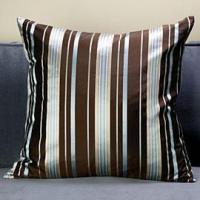 Mirage Pillow - Chocolate/Blue | Pillows | Bedding ...
