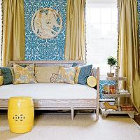 Yellow Drapes - Transitional - living room - My Home Ideas