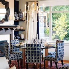 Blue And White Dining Chairs Office Chair Gray Navy Cottage Room Sarah Richardson