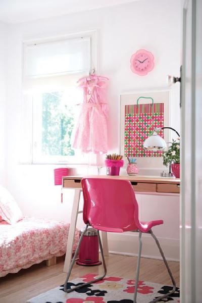 Hot Pink Desk Chair  Contemporary  girls room  House