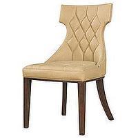 alex chair arhaus desk height lummi white leather high-back - overstock.com