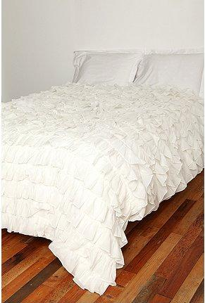 country cottage living room decor mid century modern apartment urbanoutfitters.com > waterfall ruffle duvet cover