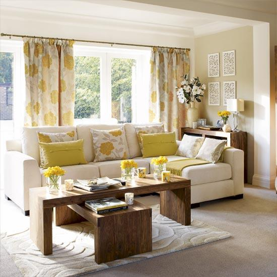 grey and yellow curtains for living room small two loveseats gray contemporary