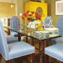 Yellow Upholstered Dining Room Chairs Big Nate Dibs On This Chair Tufted Eclectic Burnham Design