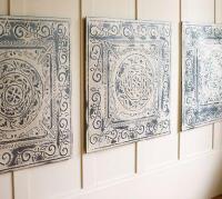 Vintage Tin Tiles, Set of 3 - Pottery Barn