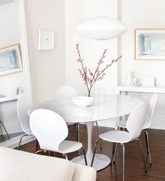 Saarinen Oval Dining table  Contemporary  dining room