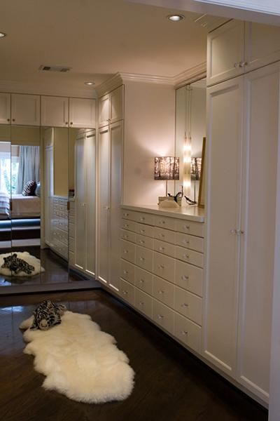 Mirrored Doors  Contemporary  closet  Blount Design