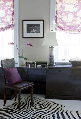 Purple Toile  Eclectic  denlibraryoffice  Elizabeth