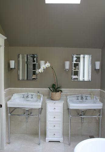 Taupe Paint Colors  Contemporary  bathroom  Gillian