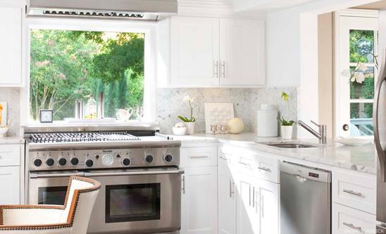 Window Over Stove  Transitional  kitchen  Martensen